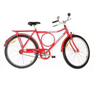 Oferta ➤ Bicicleta Monark Aro 26 – Barra Circular Fi Lazer Vermelha   . Veja essa promoção