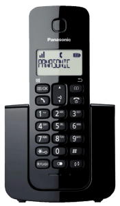Telefone Sem Fio Panasonic Tgb110 Preto Identificador de Chamadas