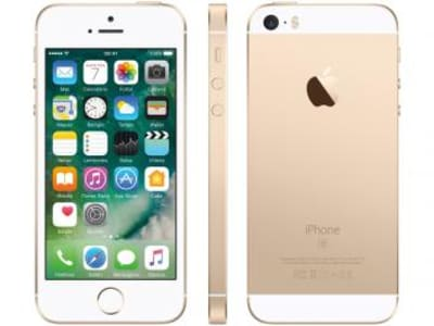 Oferta ➤ iPhone SE Apple 64GB Dourado 4G Tela 4″ – Retina Câm. 12MP iOS 10 Proc. Chip A9 Touch ID Bivolt   . Veja essa promoção
