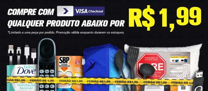 CLIQUE ➤➤ Vários Produtos no Ricardo Eletro por R$1,99! Pagando com Visa Checkout!   oferta com preço barato em Promoção no site de loja