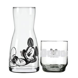 CLIQUE ➤➤ Conjunto Moringa e Copo em Vidro Nadir Disney Mickey Alegria 2 Peças   oferta com preço barato em Promoção no site de loja