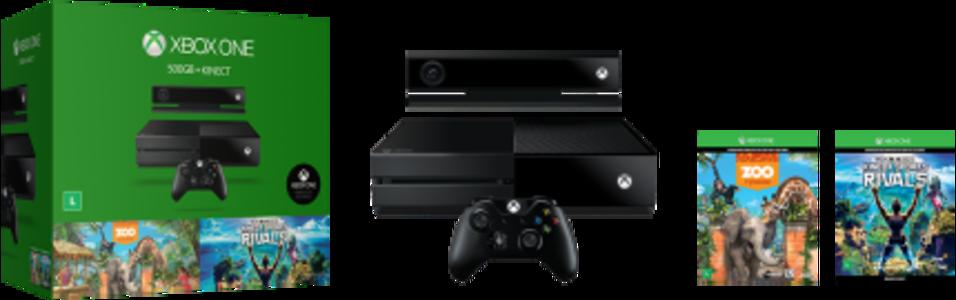 CLIQUE ➤➤ Console Xbox One 500 Gb + Kinect + Jogo Kinect Sports Rivals + Jogo Zoo Tycoon   oferta com preço barato em Promoção no site de loja