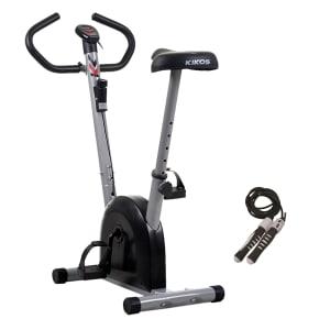 CLIQUE ➤➤ Bicicleta Ergometrica Mangnetica Vertical Kikos B3015 + Corda de pular contador de giro   oferta com preço barato em Promoção no site de loja