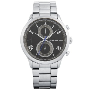 5ae9ed0678b Relógio Akium Masculino Aço - BLACK-03E53GB01