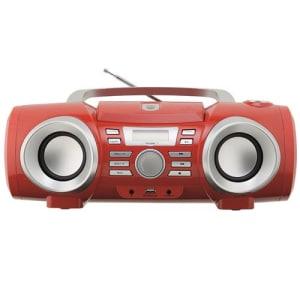 CLIQUE ➤➤ Som Portátil Philco PB130V USB CD MP3 Rádio FM 10W – Vermelho   oferta com preço barato em Promoção no site de loja