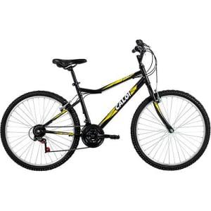 CLIQUE ➤➤ Bicicleta Caloi Aspen Aro 26 21 Marchas MTB – Preto/Amarelo   oferta com preço barato em Promoção no site de loja