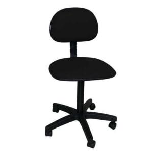 CLIQUE ➤➤ Cadeira de Escritório Secretária Giratória Pistão Fixo Tecido Preta   oferta com preço barato em Promoção no site de loja