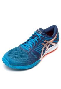 CLIQUE ➤➤ Tênis Asics FuzeX TR Azul/Laranja/Prata   oferta com preço barato em Promoção no site de loja