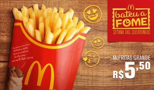 CLIQUE ➤➤ McDonalds – McFritas Grande R$5,50   oferta com preço barato em Promoção no site de loja