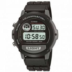 Oferta ➤ Relógio Masculino Casio, Digital, Caixa 4,4 cm, Pulseira em Resina, Resistente a Água 50 metros – W-87H-1VHDR   . Veja essa promoção