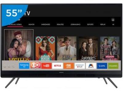 CLIQUE ➤➤ Smart TV LED 55″ Samsung 55K5300 – Conversor Digital 2 HDMI 1 USB 55″ – Bivolt   oferta com preço barato em Promoção no site de loja