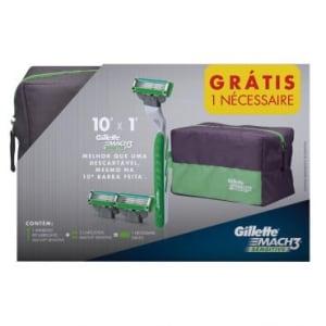 CLIQUE ➤➤ Aparelho de Barbear Gillette Mach3 Sensitive + 2 Cargas + GRÁTIS Necessaire   oferta com preço barato em Promoção no site de loja