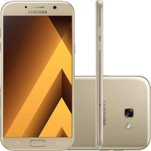 CLIQUE ➤➤ Smartphone Samsung Galaxy A7 Dual Chip Android 6.0 Tela 5.7″ Octa-Core 1.9GHz 32GB 4G Câmera 16MP – Dourado   oferta com preço barato em Promoção no site de loja