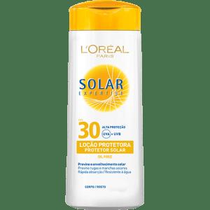 CLIQUE ➤➤ Protetor Solar Expertise Loção FPS 30 120ml – LOréal Paris   oferta com preço barato em Promoção no site de loja