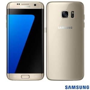 CLIQUE ➤➤ Samsung Galaxy S7 Edge Dourado, com Tela de 5,5, 4G, 32 GB e Camera de 12 MP – SM-G935F – SGG935DRD   oferta com preço barato em Promoção no site de loja