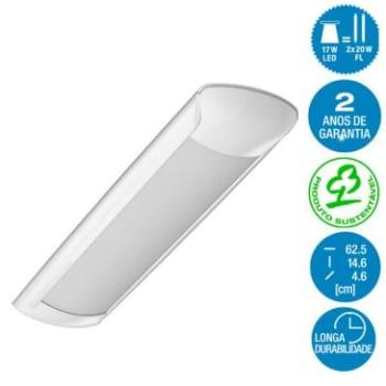 Luminária de Led Teto Curta Aplikled Bivolt Luz Branca 17W 5000K - Osram