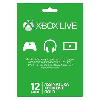 Cartão XBOX Live Gold de 12 Meses - Microsoft