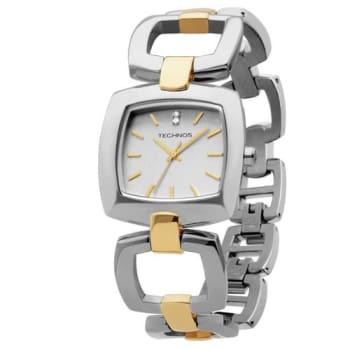 75b36fbdfb2 Relógio Feminino Analógico Technos 2035LNF5K - Prata Dourado em ...