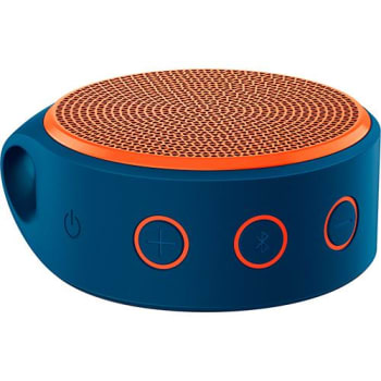 Mini Caixa de Som Wireless x100 Bluetooth Azul e Laranja - Logitech