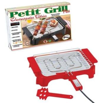 Churrasqueira Elétrica Anurb Petit Grill Plus -1000W de Potência, Bandeja Coletora de Gordura, Desmontável, Ideal p/ Apartamentos e Ambientes Fechados