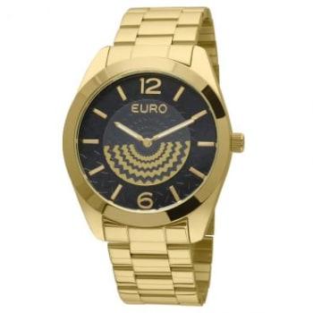 1acc55f086f Relógio Feminino Analógico Euro Puseira de Aço Dourado Fashion - Caixa de  4