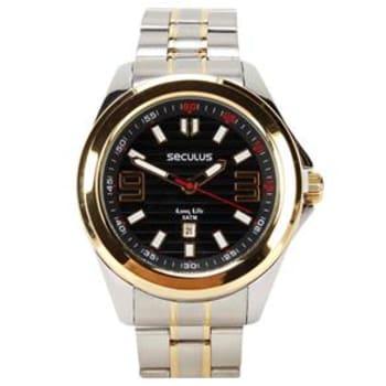 1ff174d399f Relógio Masculino Analógico Seculus 28588GPSVBA1 – Cromado Dourado ...