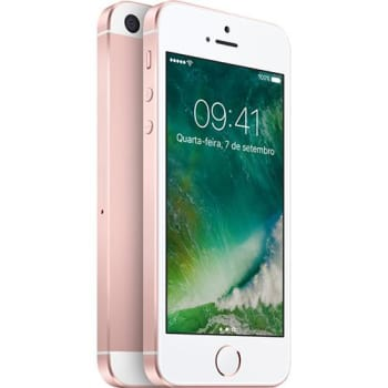 "iPhone SE 16GB Rosa Tela 4"" IOS 9 4G Câmera 12MP - Apple"