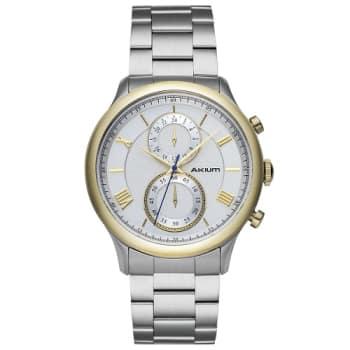 22223386afa Relógio Akium Masculino Aço - GOLD-03E53GB01 em Promoção no Oferta ...