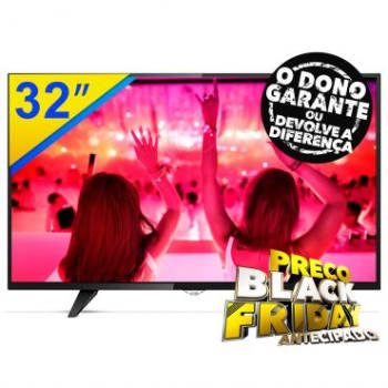 "SMART TV LED 32"" AOC HDTV, Wifi Integradro e Conversor Digital, Entradas: 3 HDMI e 2 USB - LE32S5970"