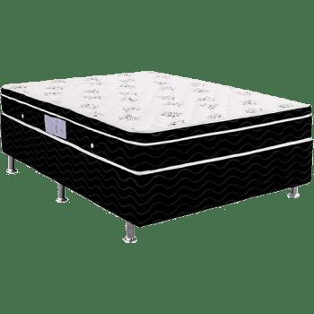 Cama Box Casal (Box + Colchão) Ortobom Physical Spring Black Molas Nanolastic - (138x188x54cm)