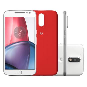 """Smartphone Motorola Moto G 4ª Geração Plus XT1640 32GB Branco 4G Tela 5,5"""" Câmera 16MP Android 6.0"""