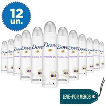Leve Mais Pague Menos: 12 Desodorantes Aerosol Dove Invisible Dry 100g