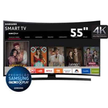 "Smart TV LED Curved 55"" Ultra HD 4K Samsung 55JU6700 com UHD Upscaling, Quad Core, Wi-Fi, Entradas HDMI e USB"