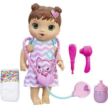 101f605e73 Boneca Baby Alive Cuida de Mim Morena C2692 - Hasbro em Promoção no ...