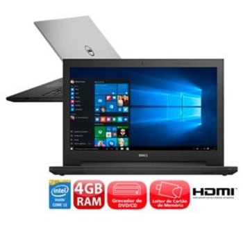 "Notebook Dell Inspiron I15-3542-C10 com Intel® Core™ i3-4005U, 4GB, 1TB, Gravador de DVD, Leitor de Cartões, HDMI, Bluetooth, LED 15.6"" e Windows 10"