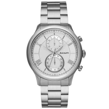 dc2e65d39e0 Relógio Akium Masculino Aço - WHITE-03E53GB01 em Promoção no Oferta ...