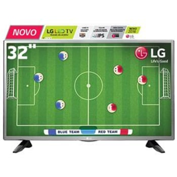 "TV LED 32"" HD LG 32LH515B com Conversor Digital Integrado, Painel IPS, Game TV, Entrada HDMI e USB"