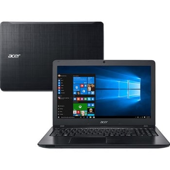 "Notebook Acer F5-573-521B Intel Core i5 8GB 1TB Tela 15.6"" Windows 10 - Preto"
