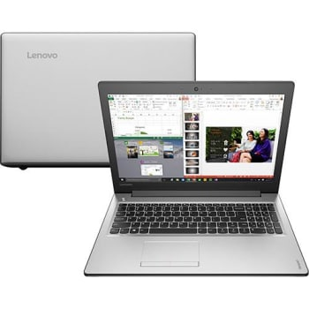 "Notebook Lenovo Ideapad 310 Intel Core 6 i7-6500u 8GB (2GB de Memória Dedicada) 1TB Tela LED 15"" Windows 10 - Prata"