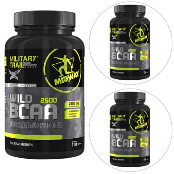 Kit 3 BCAA Wild 100 Tabs Military Trail – Midway