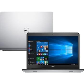 """Notebook Dell Inspiron I14-5457-A40 Intel Core i7 16GB (4GB de Memória Dedicada) 1TB 8GB SSD Tela LED 14"""" Windows 10 - Prata"""