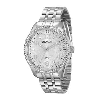 8565575c9fe Relógio Seculus Feminino Prata Analógico 28616L0SVNS2 em Promoção no ...