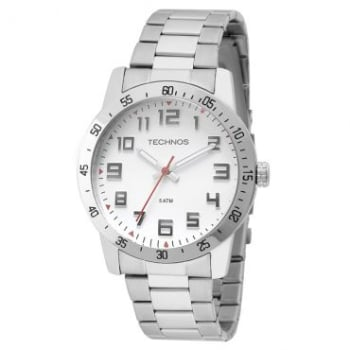 04aade56cd034 Relógio Masculino Technos, Analógico, Pulseira de Aço, Caixa de 4,5 cm,  Resistente á àgua 5 ATM - 2035LWD 1B