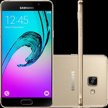 """Smartphone Samsung Galaxy A7 2016 Dual Chip Android 5.1 Tela 5.5"""" 16GB 4G Câmera 13MP - Dourado"""