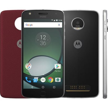 "Smartphone Moto Z Play Dual Chip Android 6.0 Tela 5.5"" 32GB Câmera 16MP - Preto"