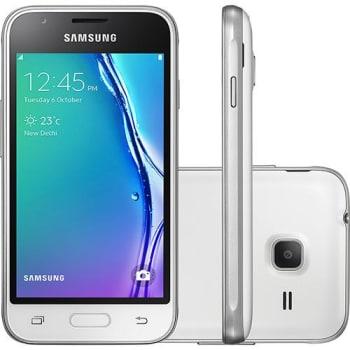 "Smartphone Samsung Galaxy J1 Mini Dual Chip Android 5.1 Tela 4"" 8GB 3G Wi-Fi Câmera 5MP - Branco (Cód. 125706998)"
