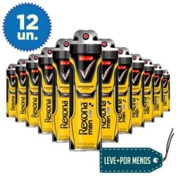 LEVE + PAGUE - : 12 Desodorantes Aerosol Rexona Men V8 150ml