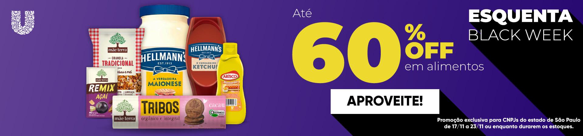 Unilever até 60% em alimentos