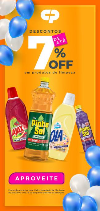 Colgate - Até 7% OFF em produtos de limpeza