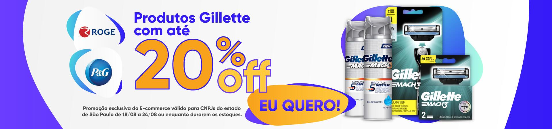 P&G - Produtos Gillette com até 20% OFF